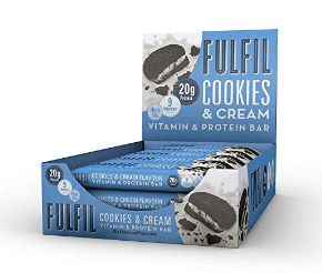 fitness food - Fulfil Cookies and Cream Vitamin and Protein Bar