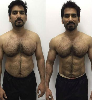 training before and after
