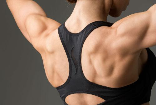 toned back muscles