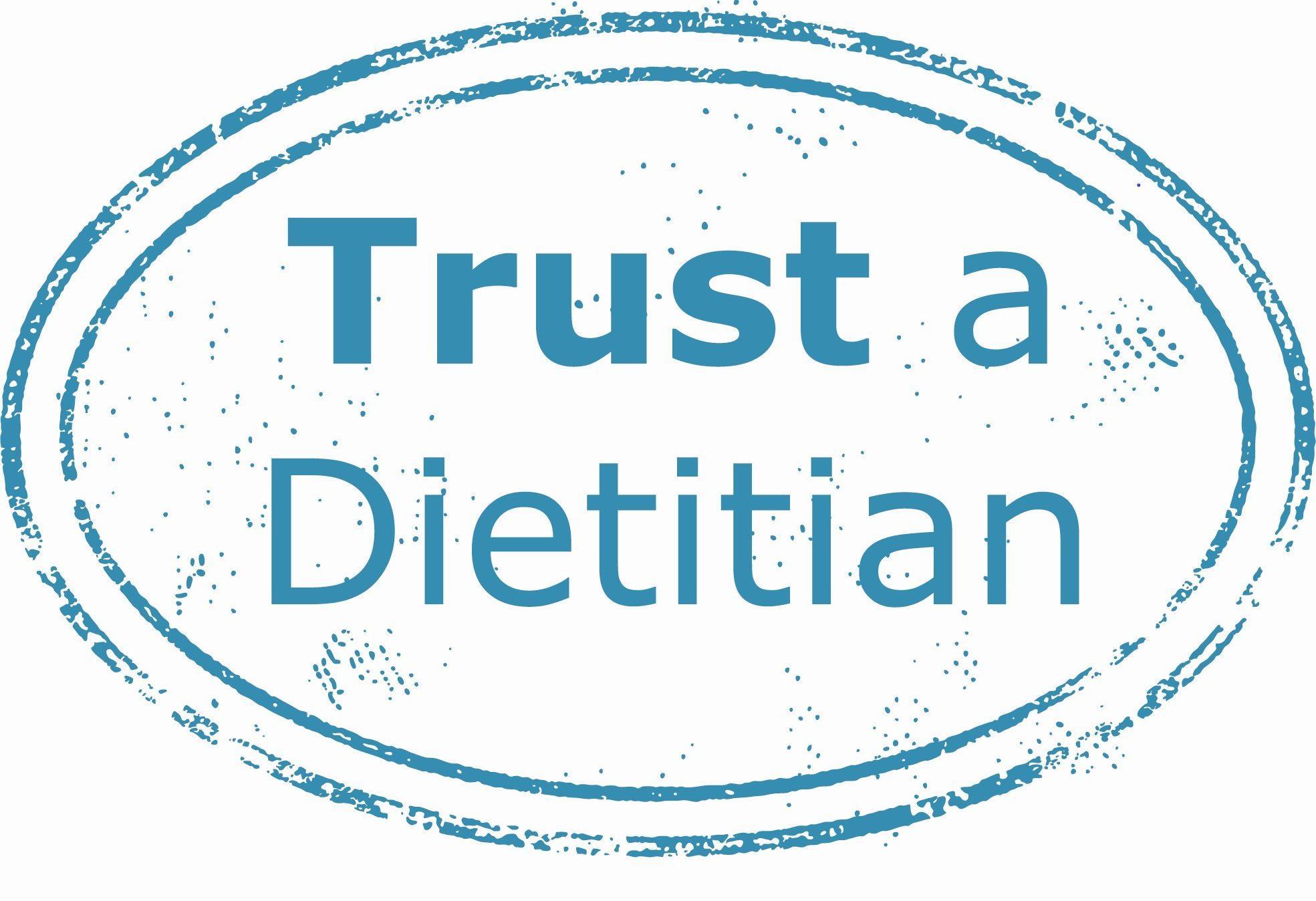 Trust a dietitian logo